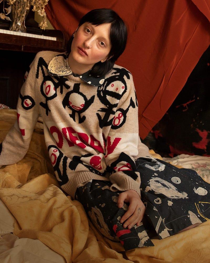 Charles Jeffrey LOVERBOY Logo-Intarsia Wool Sweater