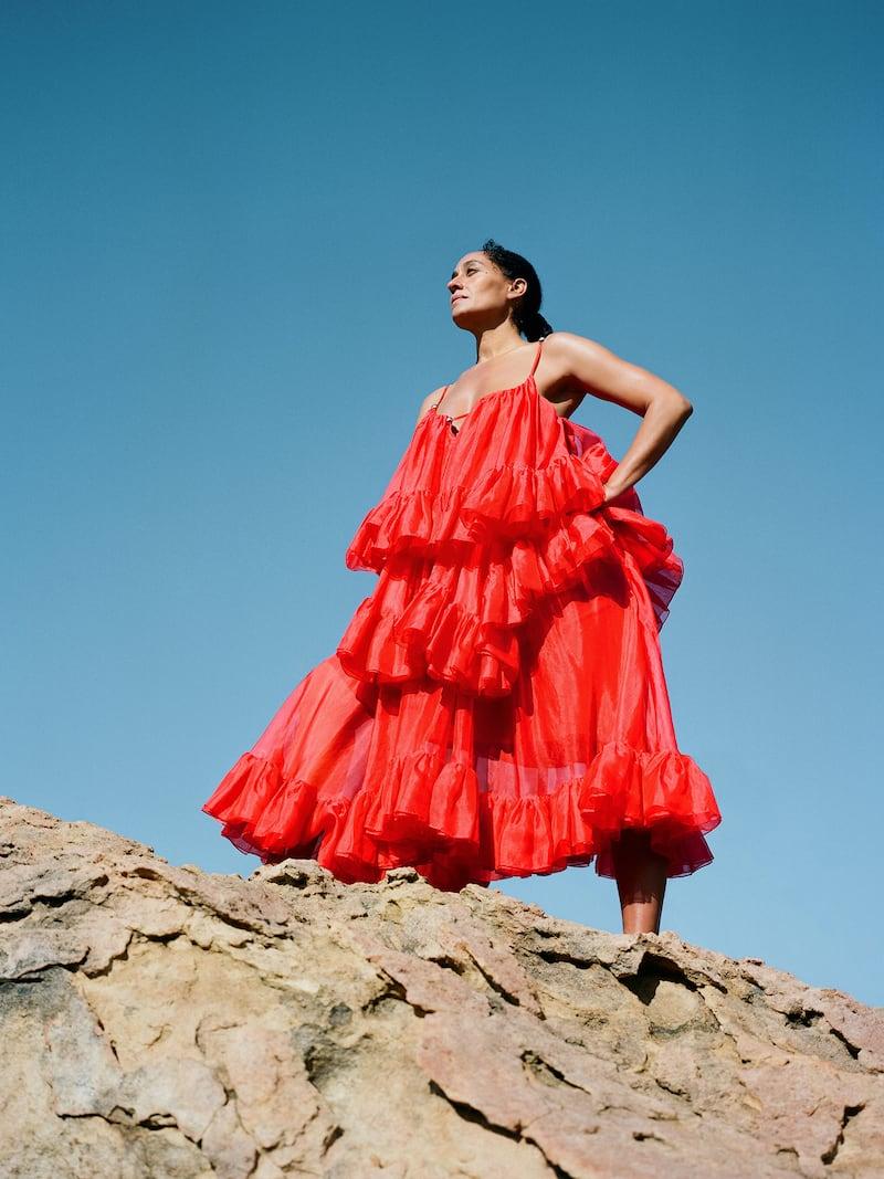 Christopher Kane Tiered Ruffled Silk-Organza Midi Dress