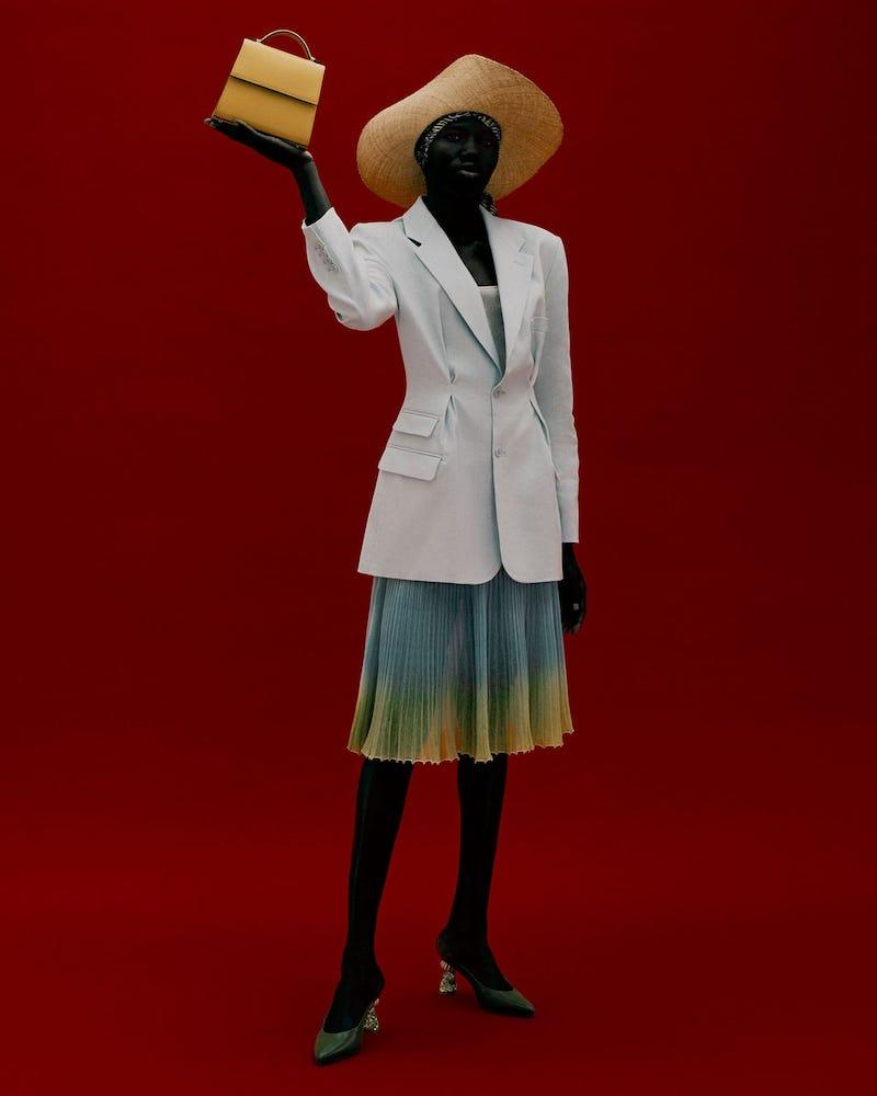 Jacquemus Rafaella Pleated Slim-Fit Canvas Jacket