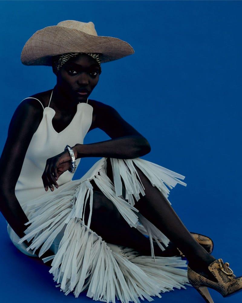 Jil Sander Raffia-Fringe Knitted Dress