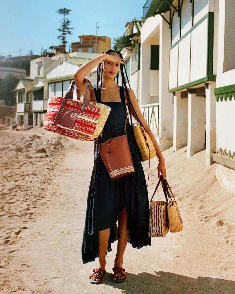 Loewe Paula's Ibiza Asymmetric Gathered Tank Dress