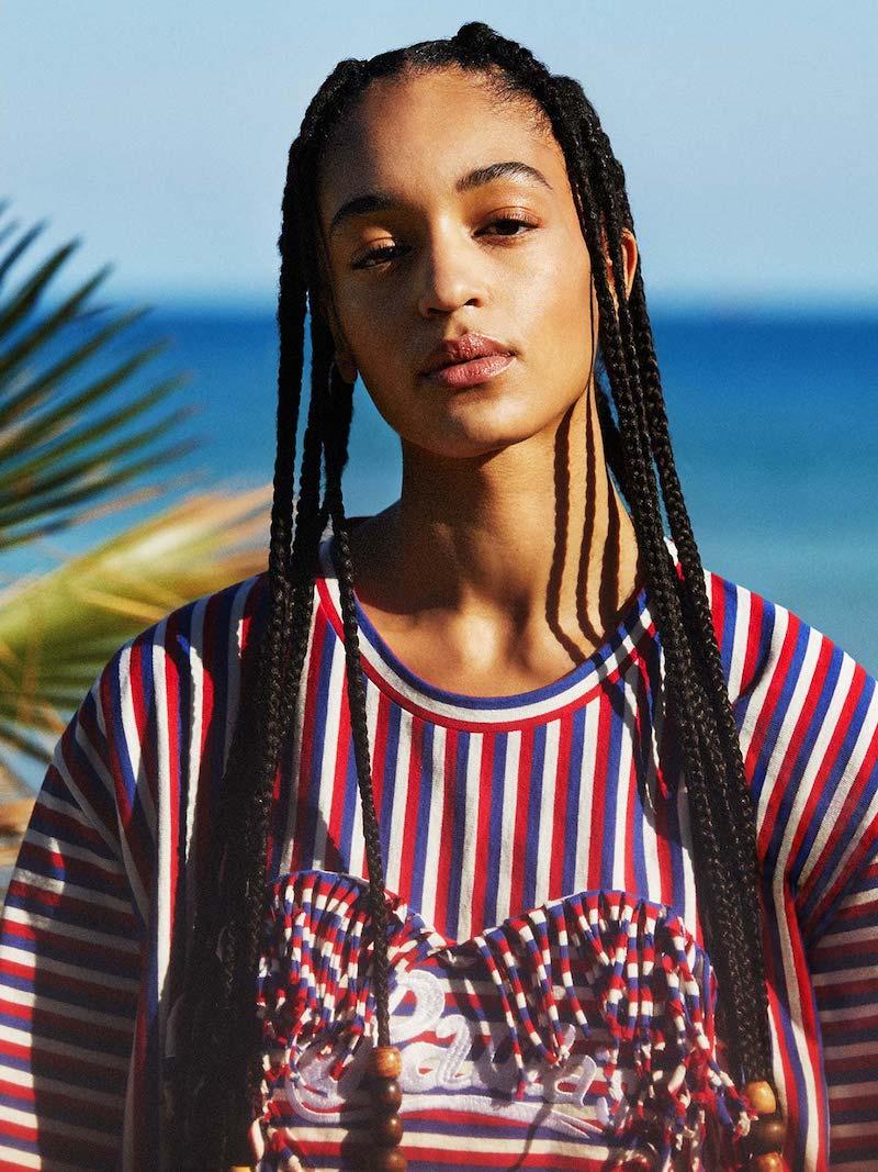 Loewe Paula's Ibiza Fringe-Trim Striped Boxy-Fit T-Shirt