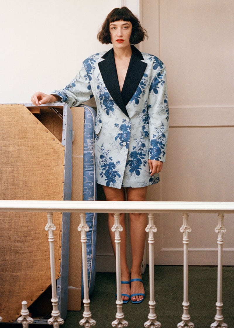 & Other Stories Oversized Blazer Mini Dress