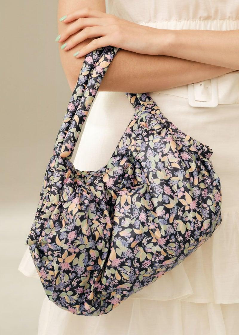 & Other Stories Soft Floral Print Handle Bag