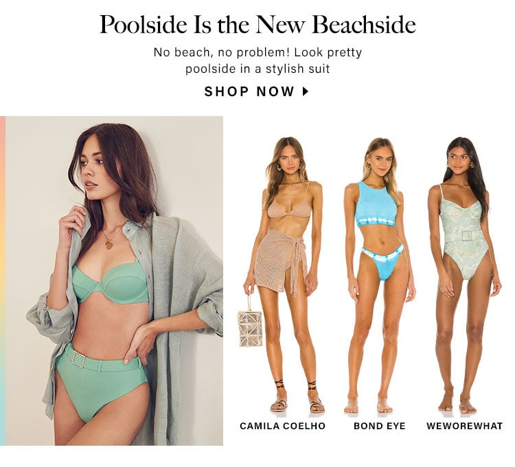 Poolside Is the New Beachside: No beach, no problem! Look pretty poolside in a stylish suit - Shop Now