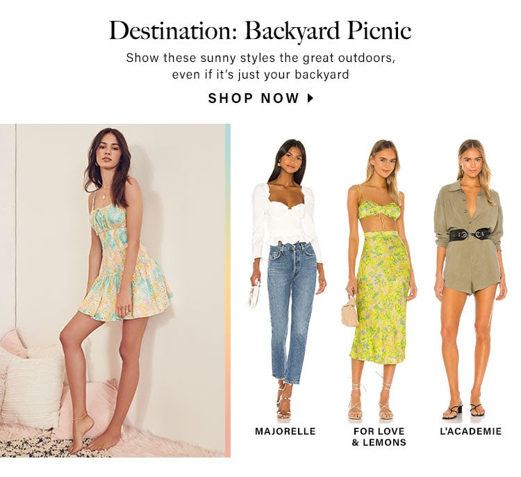 Destination: Backyard Picnic: Show these sunny styles the great outdoors, even if it's just your backyard - Shop Now