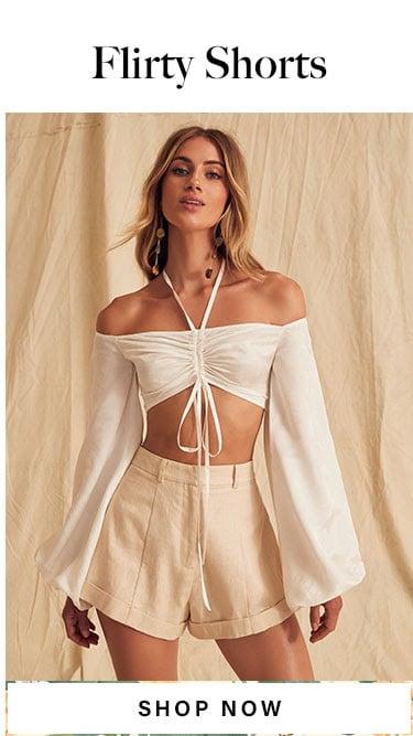 Flirty Shorts. Shop Now.