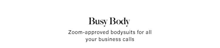Zoom-approved bodysuits for all your business calls