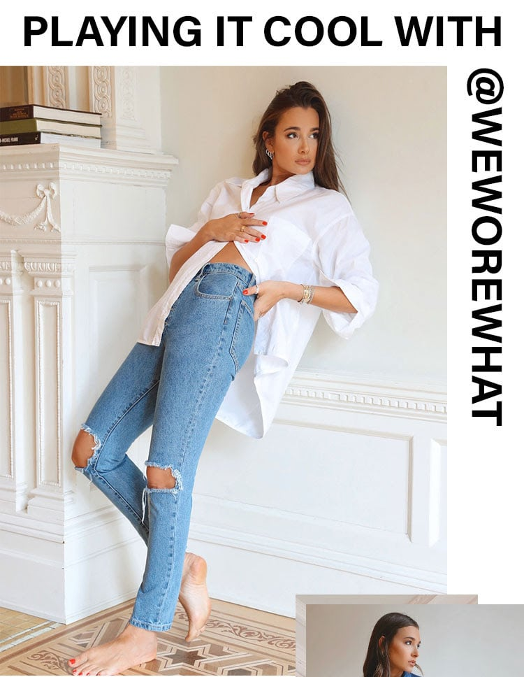Playing It Cool with @weworewhat. Introducing brand new easy-to-wear denim by cool-girl @daniellebernstein + more of her spring faves. Shop the edit.