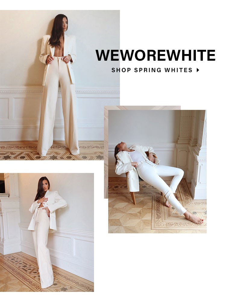 WeWoreWhite. Shop spring whites.