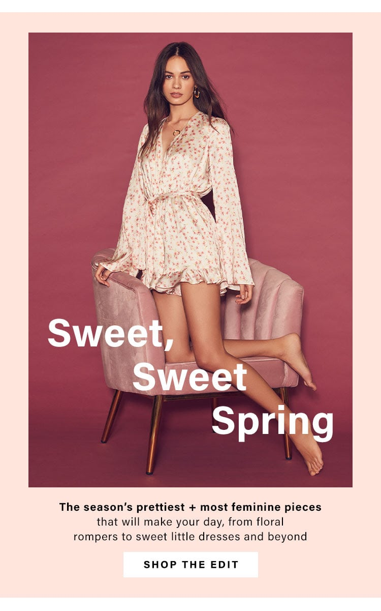 Sweet, Sweet Spring: The season's prettiest + most feminine pieces that will make your day, from floral rompers to sweet little dresses and beyond - Shop the Edit