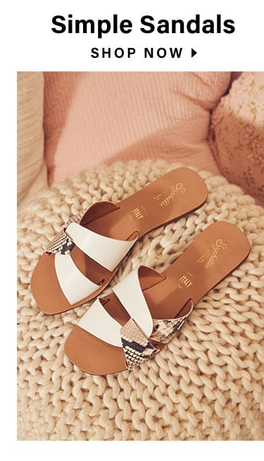 Sweet, Sweet Spring: Simple Sandals - Shop Now