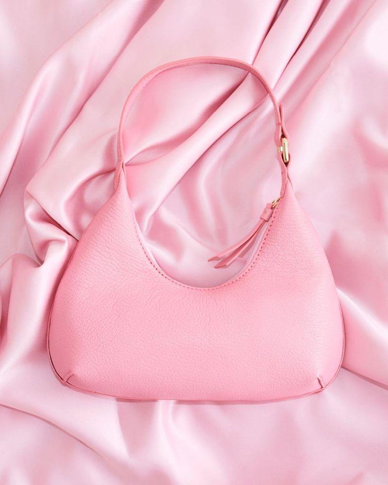 BY FAR x MYTHERESA Baby Amber Leather Shoulder Bag