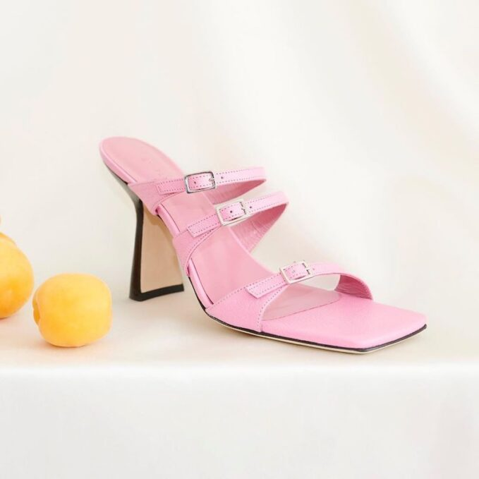 BY FAR x MYTHERESA Malene Leather Sandals