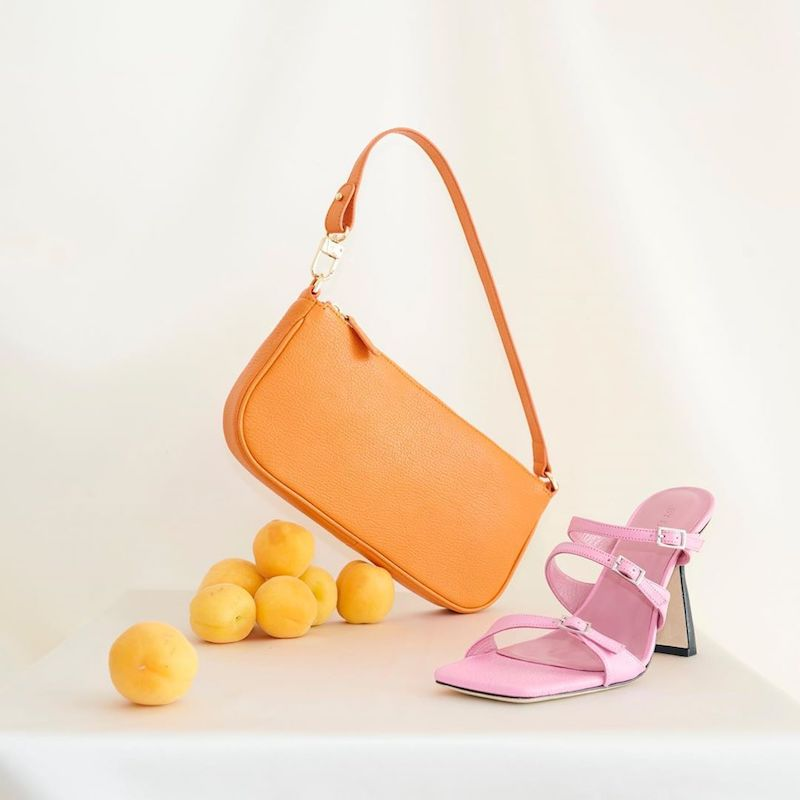 BY FAR x MYTHERESA Rachel Leather Shoulder Bag