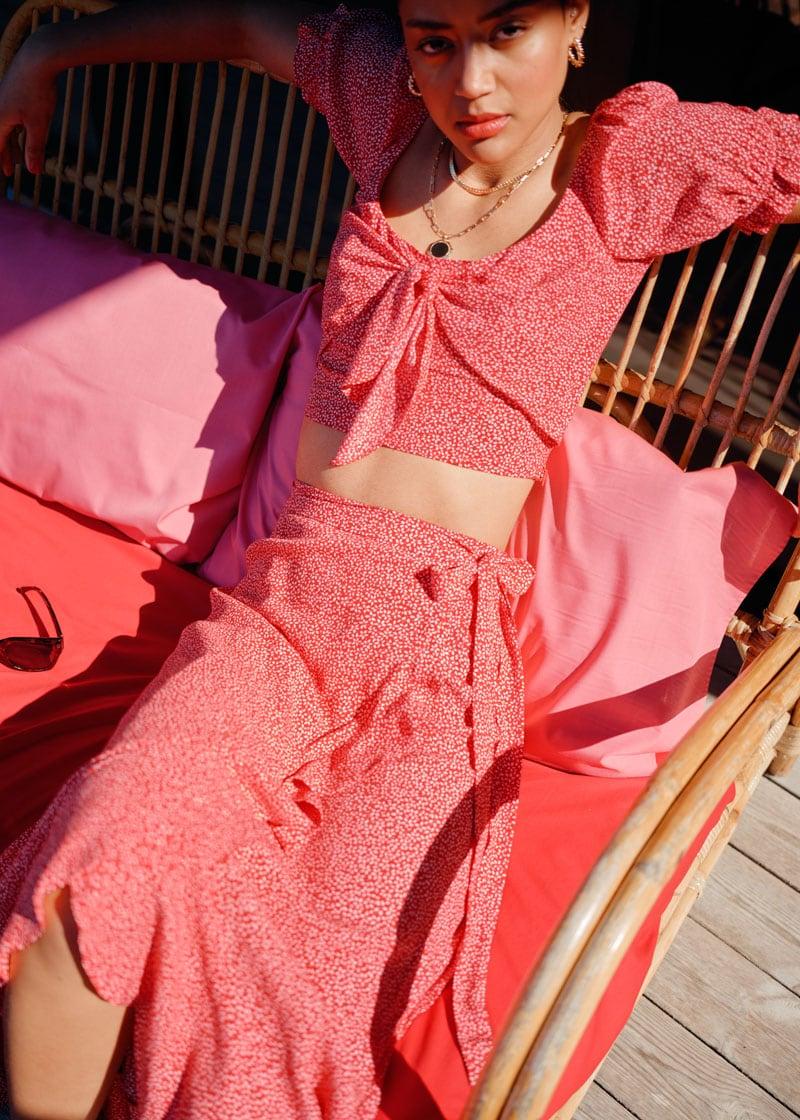& Other Stories Asymmetric Wrap Midi Skirt