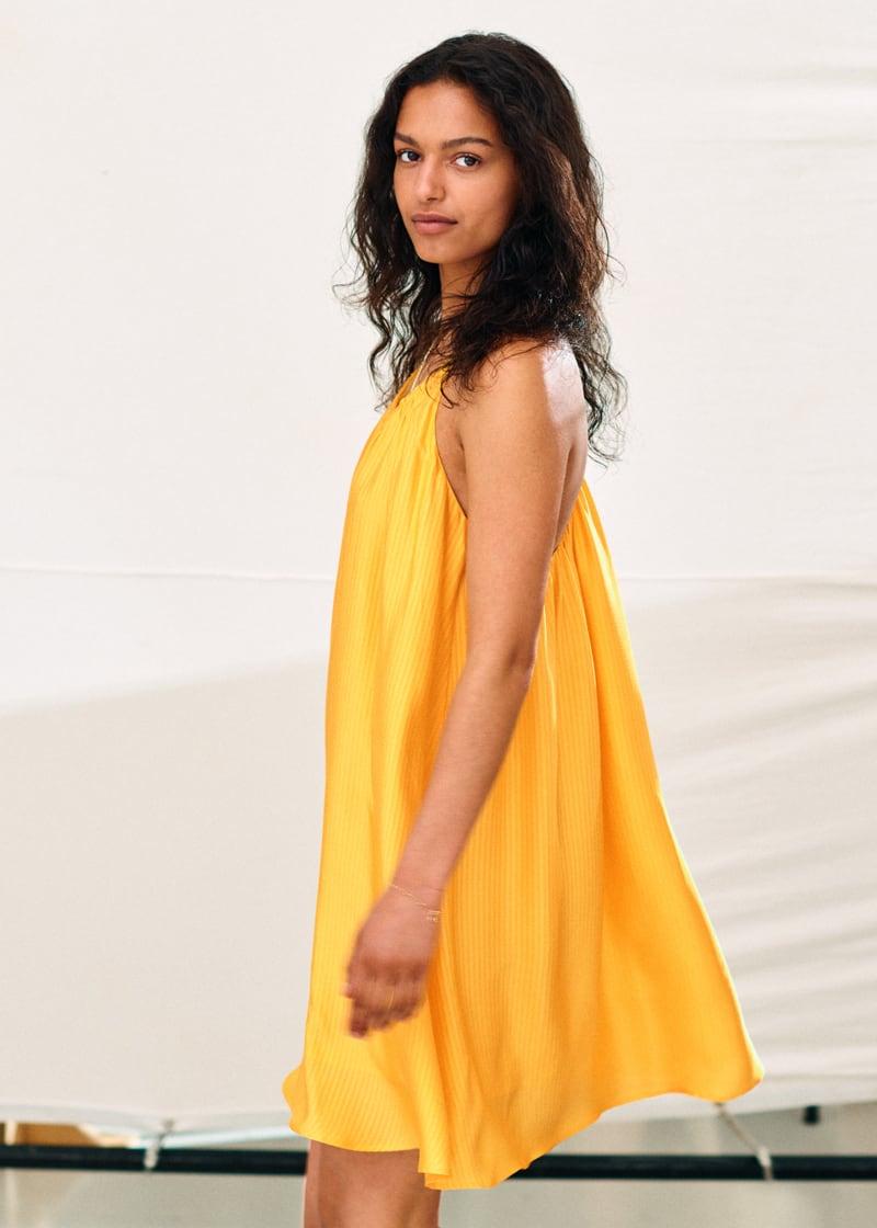 & Other Stories Voluminous Spaghetti Strap Mini Dress