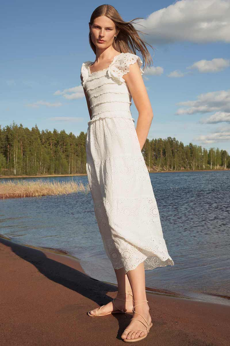 Sea Daisy Smocked Dress