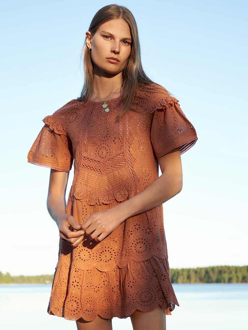 Sea Sleeve Midi Dress