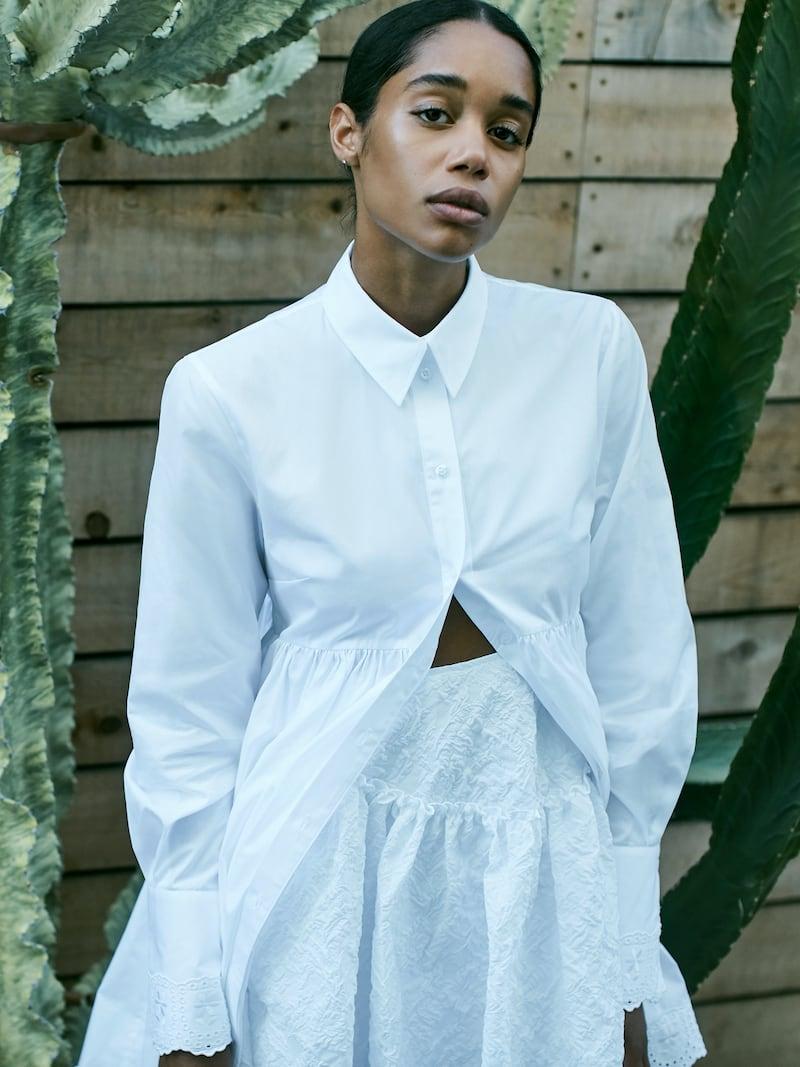 Simone Rocha Broderie Anglaise Cotton-Poplin Shirt