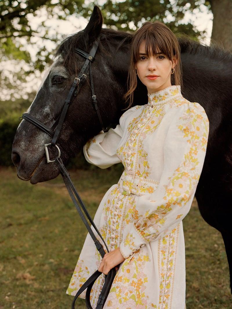Zimmermann Super Eight Belted Floral-Print Linen Mini Dress