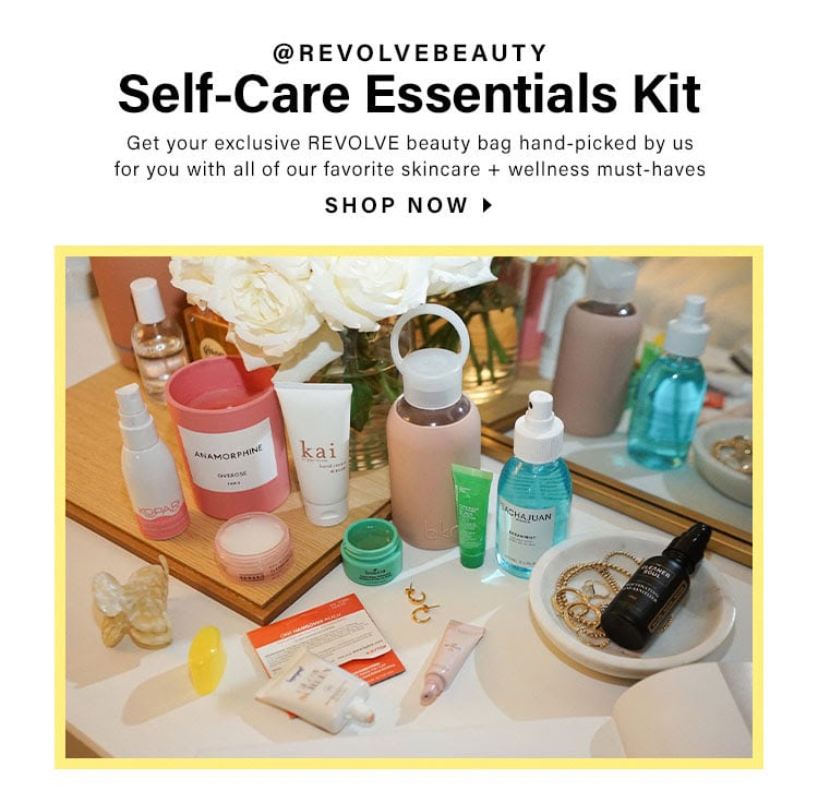 @REVOLVEbeauty Self-Care Essentials Kit. Get your exclusive REVOLVE beauty bag hand-picked by us for you with all of our favorite skincare + wellness must-haves. SHOP NOW