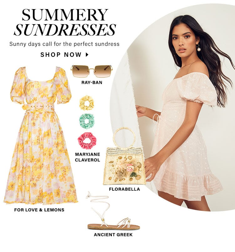 Summery Sundresses. Sunny days call for the perfect sundress. Shop now.