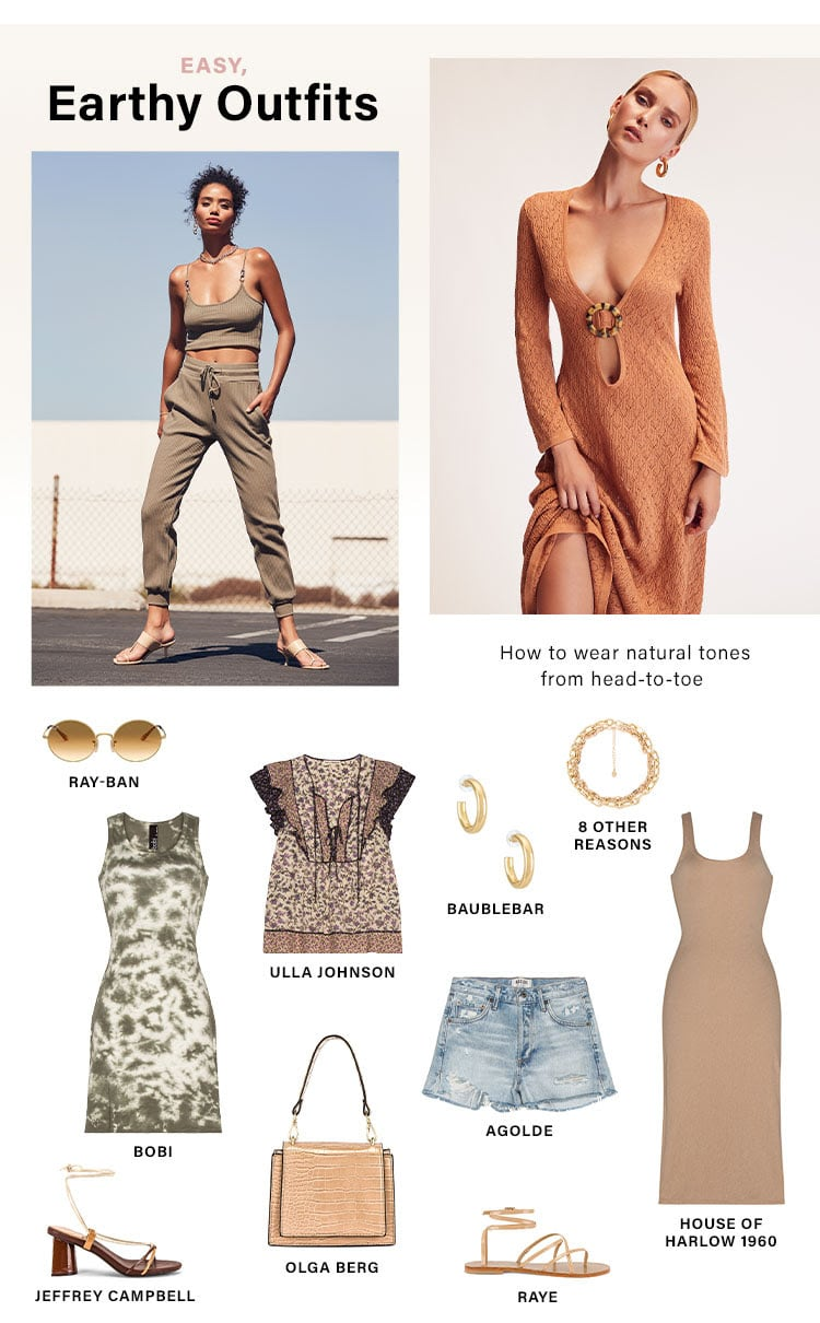 Easy, Earthy Outfits: How to wear natural tones from head-to-toe - Shop Earth Tones