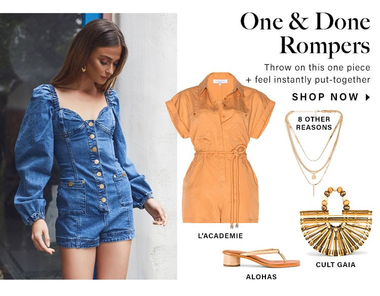 One & Done Rompers: Throw on this one piece + feel instantly put-together - Shop Now