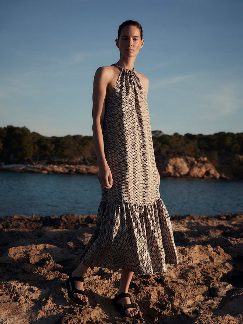 Asceno Ibiza Silk Maxi Dress