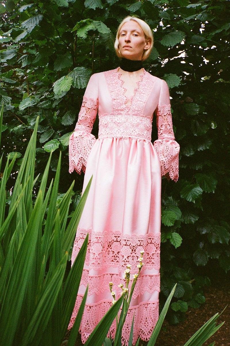Erdem Irmina Embroidered Mikado-Satin Gown