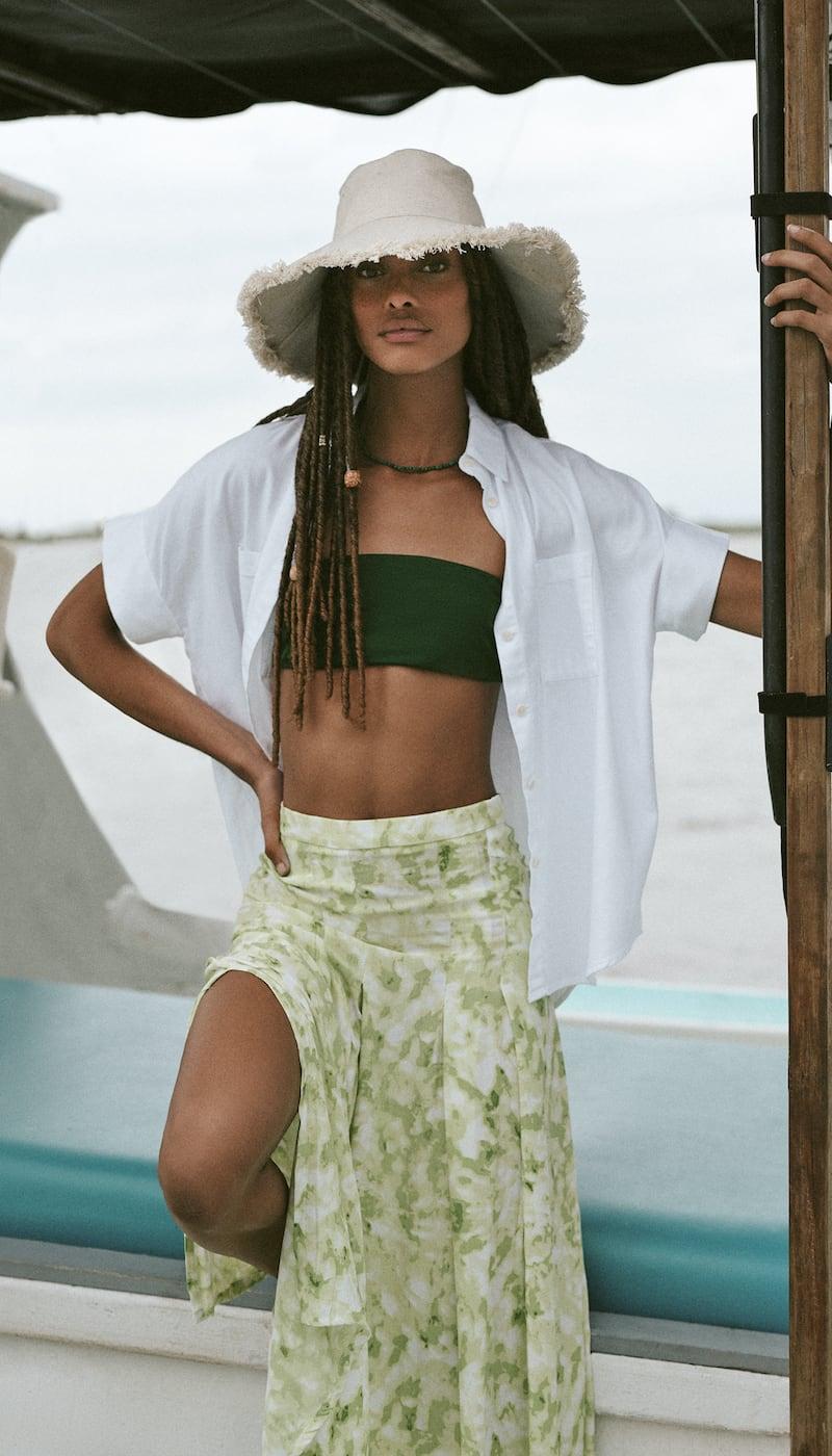 FAITHFULL THE BRAND Cuesta Midi Skirt