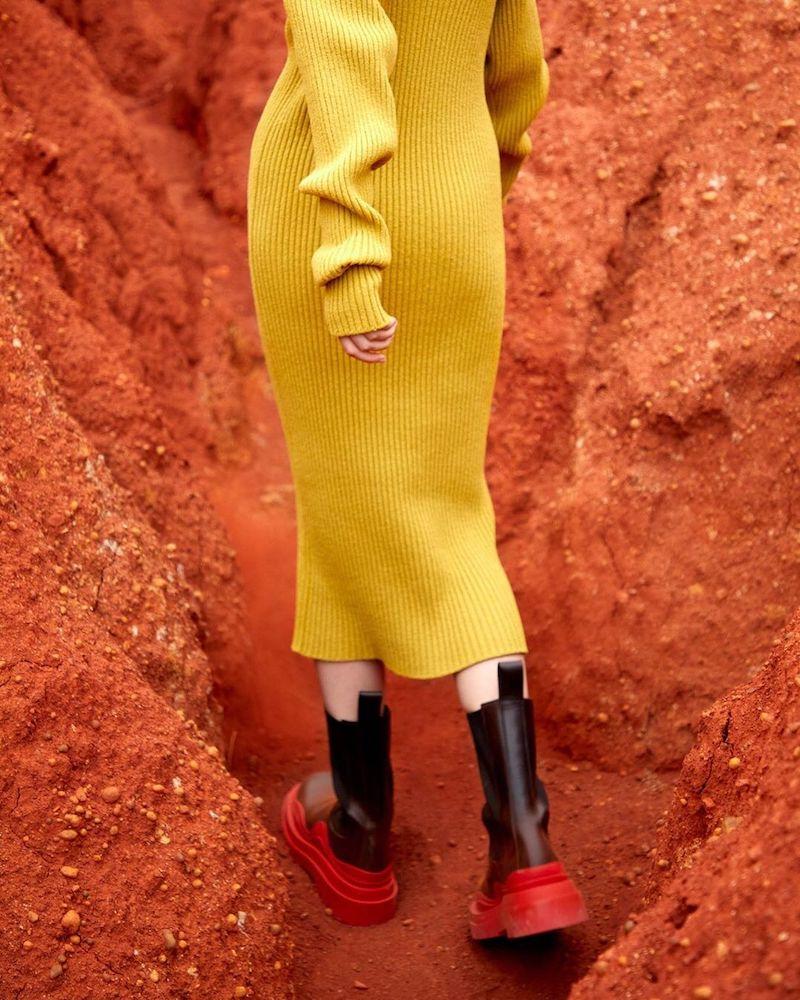 LVR Exclusive Bottega Veneta 50mm Leather Beatle Boots