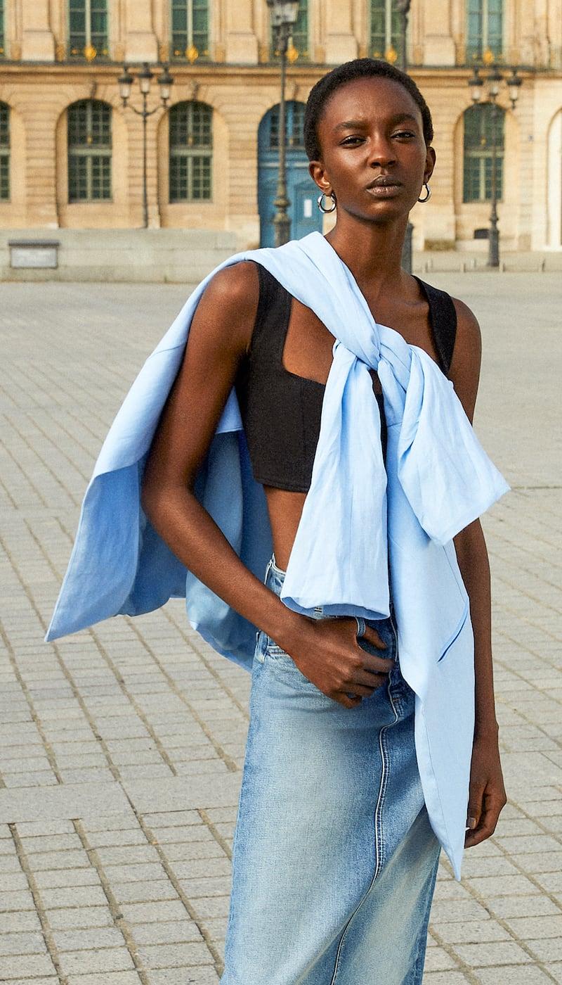 Le Kasha Linen Crop Top