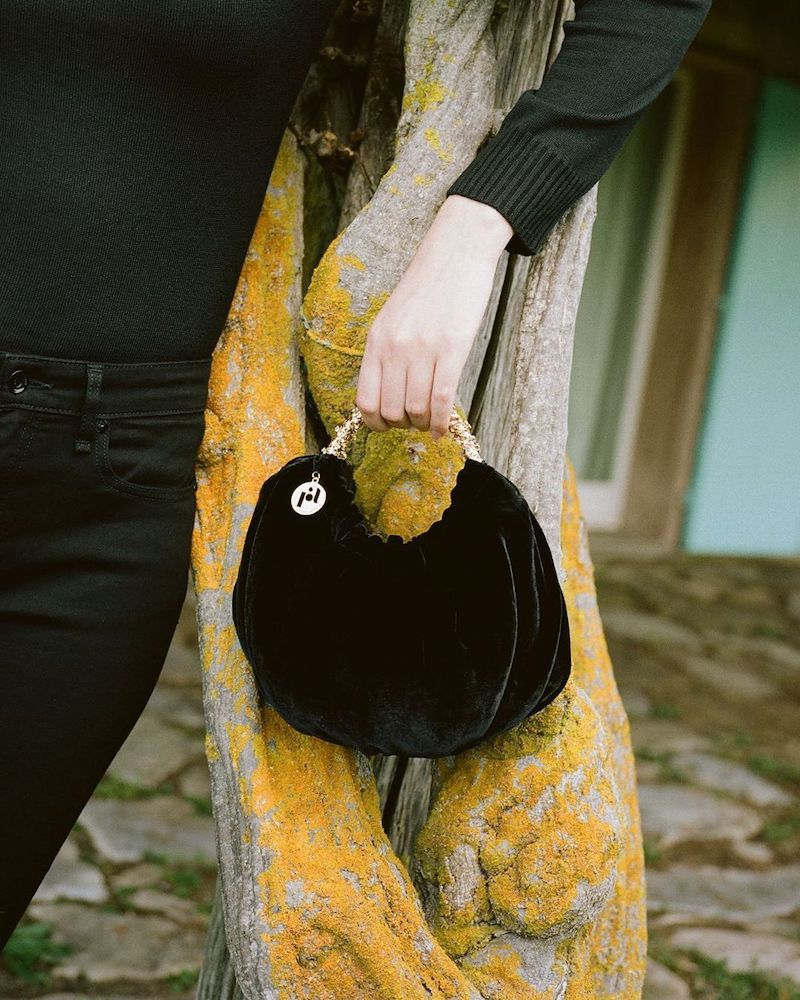 Rosantica Impero Velvet Top Handle Bag