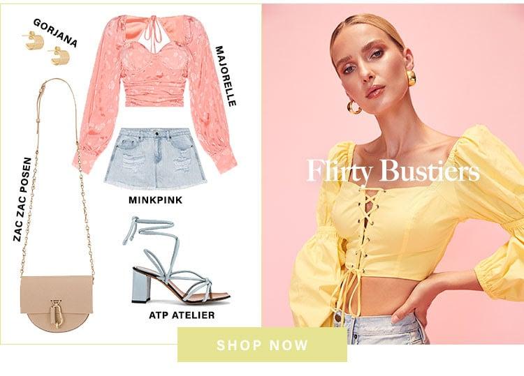 Flirty Bustiers. Shop now.