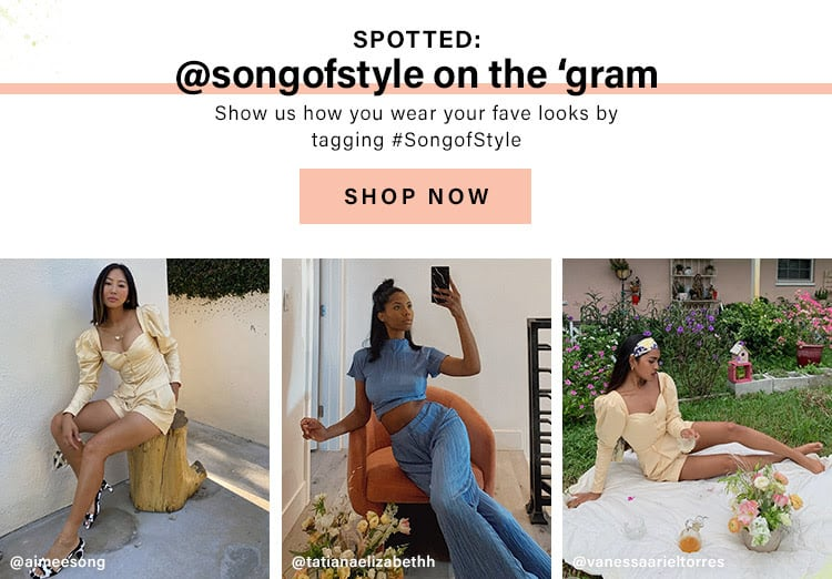 Spotted: @songofstyle on the 'gram. Show us how you wear your fave looks by tagging #SongofStyle. Shop Now.