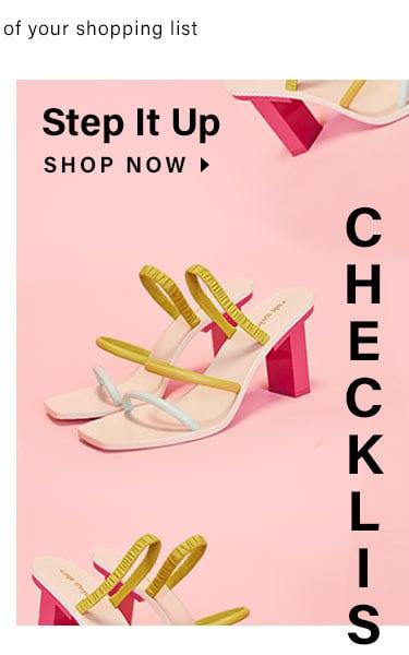 Step It Up. Shop now.