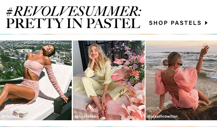 #REVOLVEsummer: Pretty In Pastel. Shop pastels.