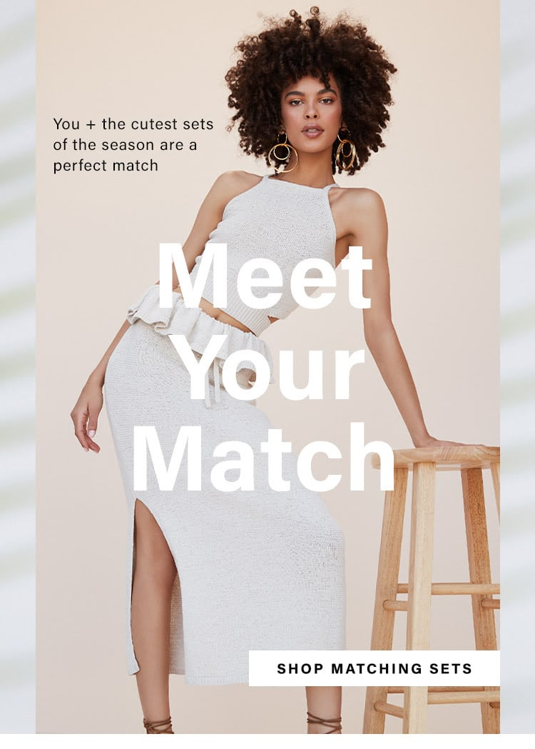 Meet Your Match: Best Matching Sets for Summer 2020