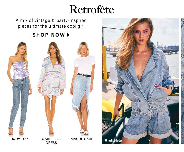 Retrofête: A mix of vintage & party-inspired pieces for the ultimate cool girl - Shop Now