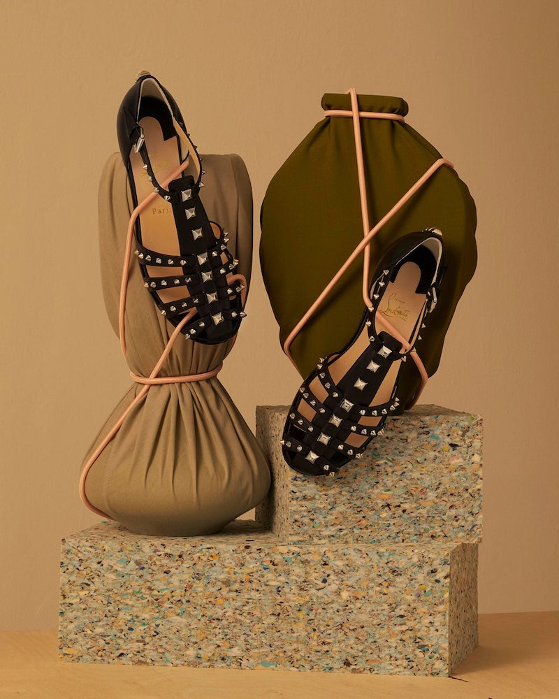 Christian Louboutin LoubiClou Studded Caged Leather Sandals