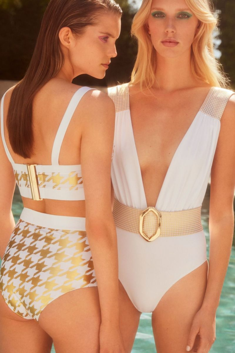 Exclusive to Mytheresa Balmain Houndstooth-Printed Bikini
