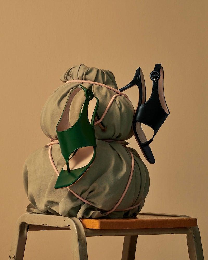 Gianvito Rossi Slingback 70 Square-Toe Leather Sandals