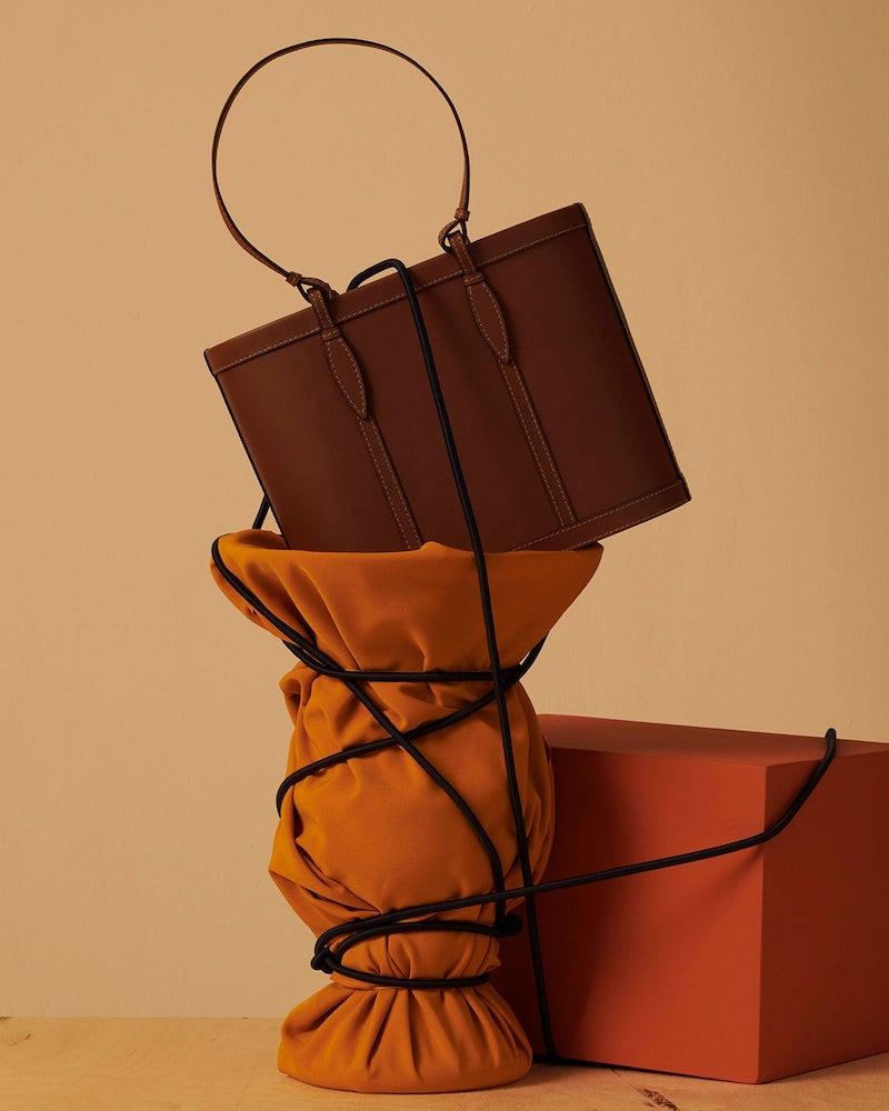 Hunting Season Basket Leather Tote Bag