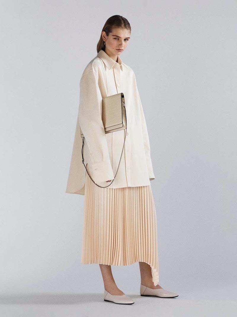 Joseph Sabin Asymmetric Plissé Skirt