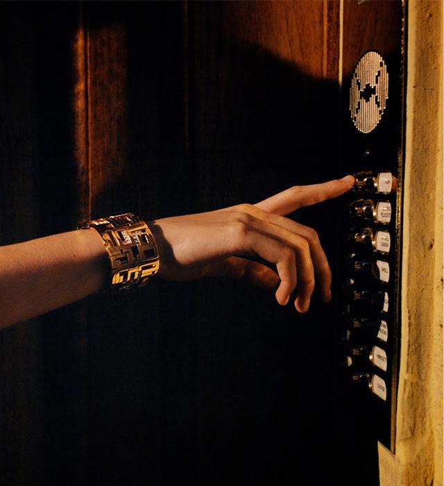 LEDA MADERA Goldie Gold-Plated Swarovski Crystal Cuff