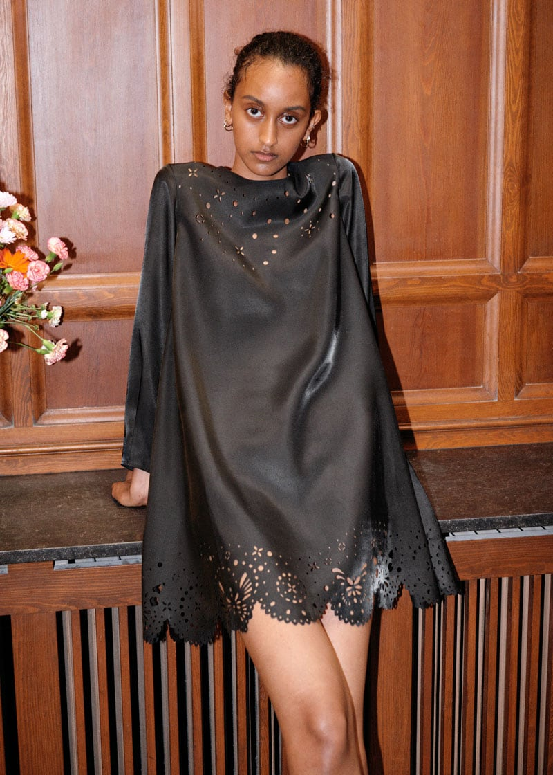 & Other Stories Laser Cut Mini Dress