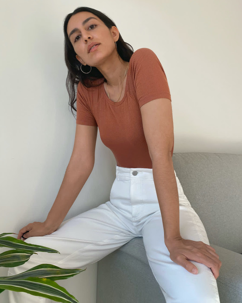 Everlane Wide Rib Crew Bodysuit
