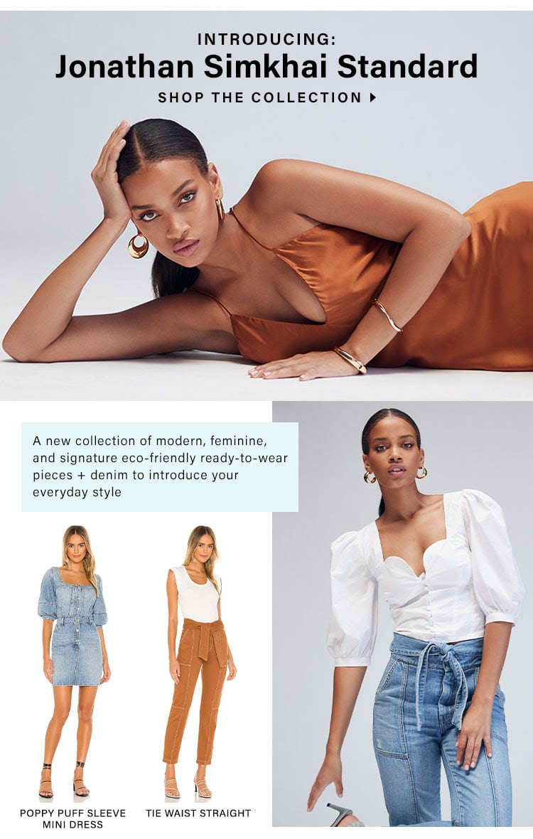 Jonathan Simkhai x REVOLVE: A new collection of modern, feminine, and signature eco-friendly ready-to-wear pieces + denim to introduce your everyday style - Shop the Collection